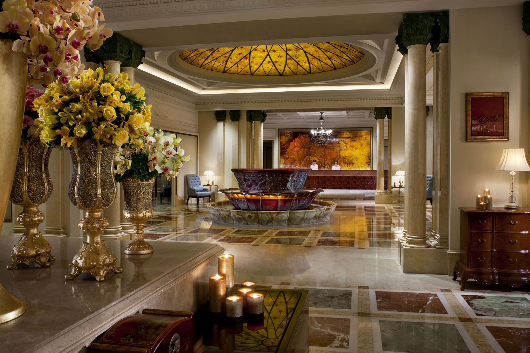 The elegant lobby of The Ritz-Carlton, Guangzhou | China |